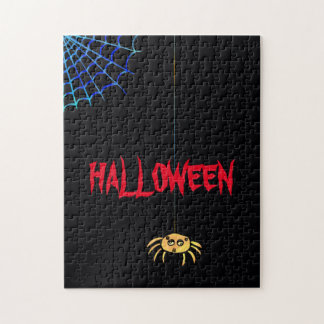 Hängande spindel Halloween Pussel
