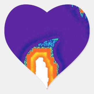 hängd färg hjärtformat klistermärke