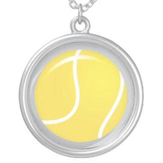 Hänge för tennisbollhalsband silverpläterat halsband