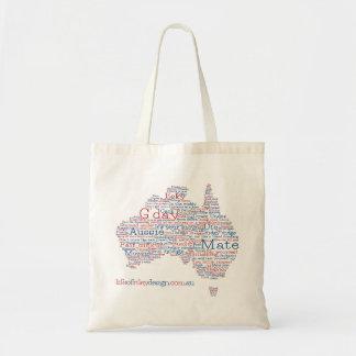 Hänger lös Aussie Slang för speciell upplaga Tygkasse