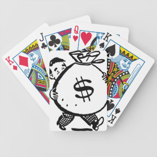 Hänger lös bärande pengar för manen dollaren spelkort