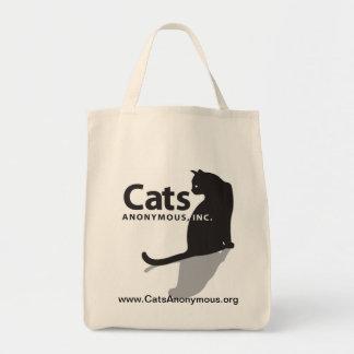 Hänger lös den anonyma logotypen för katter tygkasse
