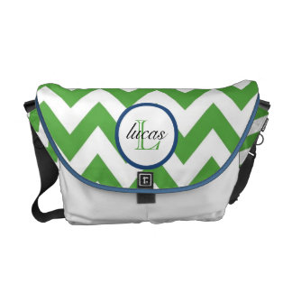 Hänger lös den gröna och marinblåa Monogramblöjan  Kurir Väskor