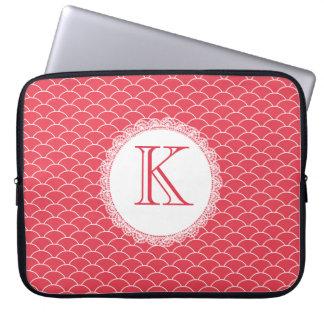 Hänger lös den röda märkes- bärbar dator för laptop sleeve