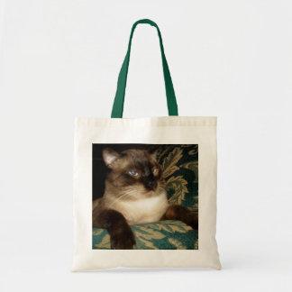 Hänger lös den Siamese katten för Pouty ansikte Tygkasse
