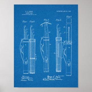 Hänger lös golfklubbcaddyen 1903 det patenterade poster