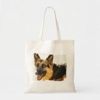 Hänger lös liten kanfas för det tyska herdehundfot tote bag