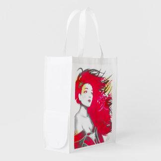 Hänger lös rosa återvinningsbart för Geisha Återanvändbara Kasse