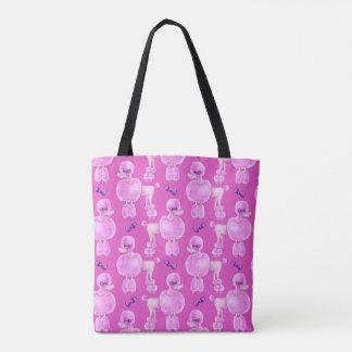 Hänger lös rosa konst för det rosa mönster för tygkasse