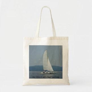 """hänger lös totot """"för klar segling"""" för coola budget tygkasse"""