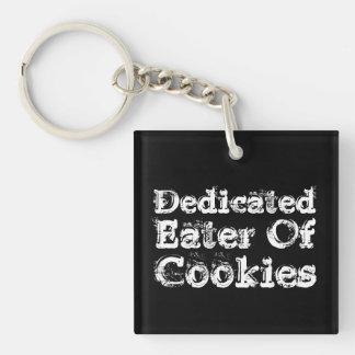 Hängiven Eater av kakor. Slogan.