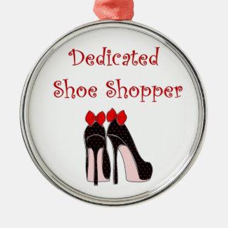 Hängivet sko shopparen julgransprydnad metall