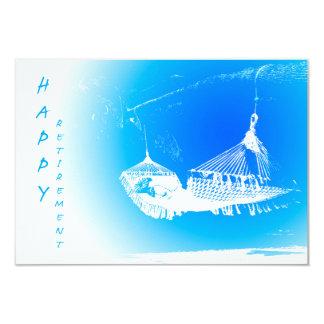 Hängmatta - lyckligt pensionparty 01 8,9 x 12,7 cm inbjudningskort