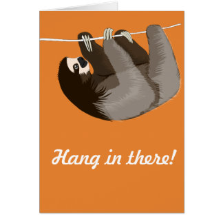 """""""Hängning i där"""" Slothkort Hälsningskort"""