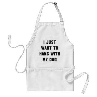 Hängning med min hund förkläde