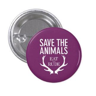 Hannibal äter det ohyfsat/spara djuremblem mini knapp rund 3.2 cm