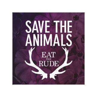 Hannibal äter det ohyfsat/spara som djuren canvastryck