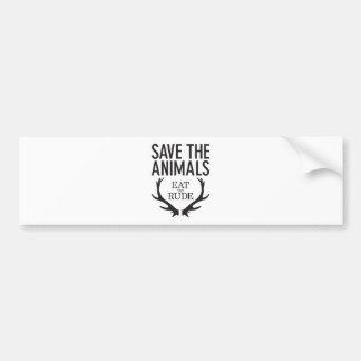 Hannibal Lecter - äta det ohyfsat (spara djuren), Bildekal