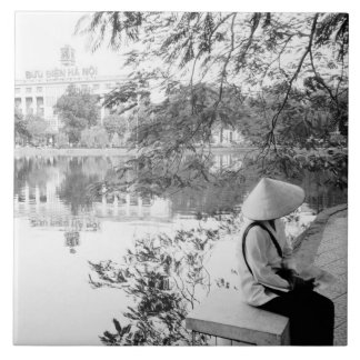 Hanoi Vietnam, Hoan Kiem sjön beskådar (NR) Kakelplatta