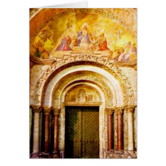 Hänrycka av Sanktt fläcks Basilica i Venedig Hälsningskort