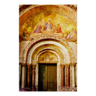 Hänrycka av Sanktt fläcks Basilica i Venedig Poster