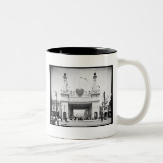 Hänrycka till Luna Park, Coneyön, N.Y. c1905 Två-Tonad Mugg