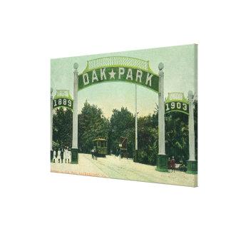 Hänrycka till Oak Park beskådar Canvastryck