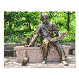 Hans Christian Andersen i Central Park Fototryck