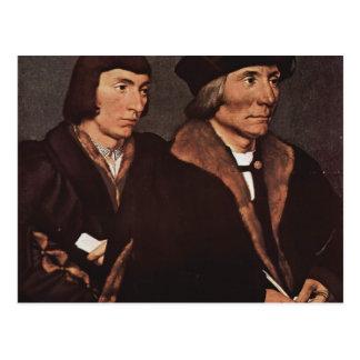 Hans Holbein - Thomas Godsalve av Norwich och son Vykort