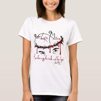 Hans liv betyder den kristna T-tröja T-shirts