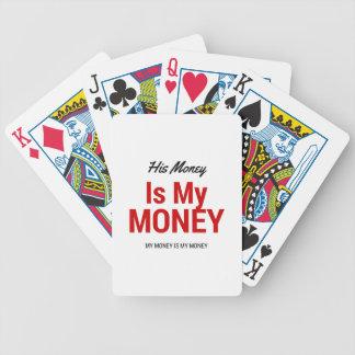Hans pengar är min pengar spelkort