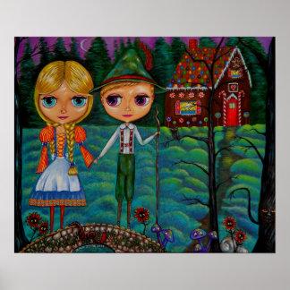 Hansel och Gretel Blythe dockor Poster