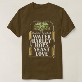Hantverkölingredienser som bryggar tee shirt