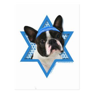 Hanukkah davidsstjärna - Boston Terrier Vykort