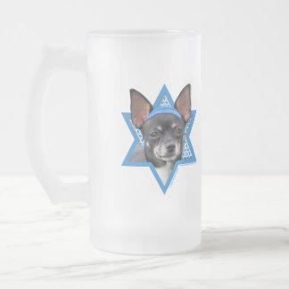 Hanukkah davidsstjärna - Chihuahua Frostat Ölglas