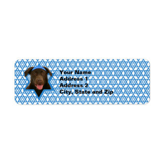 Hanukkah davidsstjärna - choklad Labrador Returadress Etikett