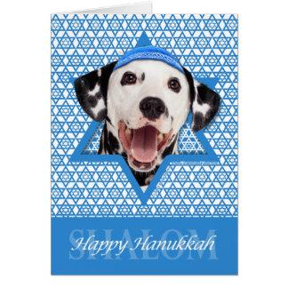 Hanukkah davidsstjärna - Dalmatian Hälsningskort