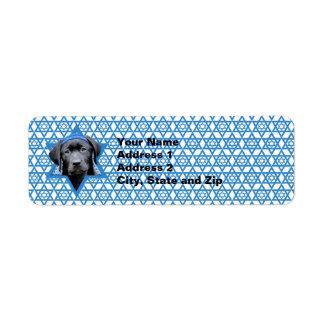 Hanukkah davidsstjärna - svart Labrador Returadress Etikett