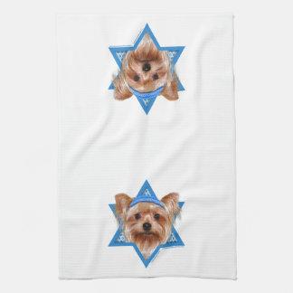 Hanukkah davidsstjärna - Yorkshire Terrier Kökshandduk