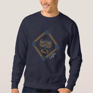 Hanukkah diamant broderad sweatshirt