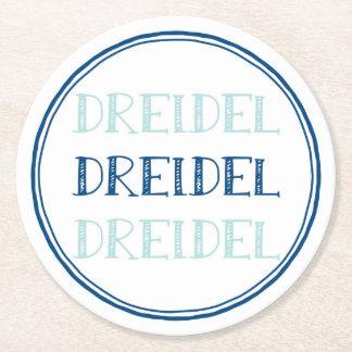 Hanukkah moderna Dreidel Underlägg Papper Rund