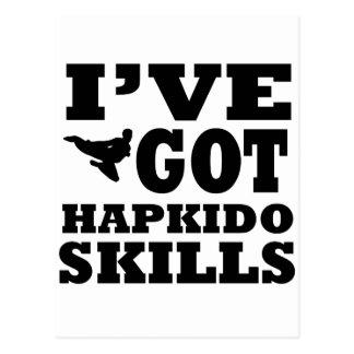 Hapkido kampsportdesigner vykort