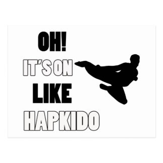 Hapkido slagsmåldesigner vykort
