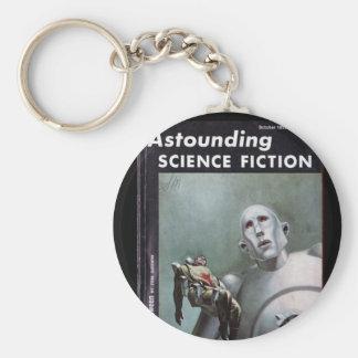 Häpnadsväckande science fiction_Oct. konst Rund Nyckelring