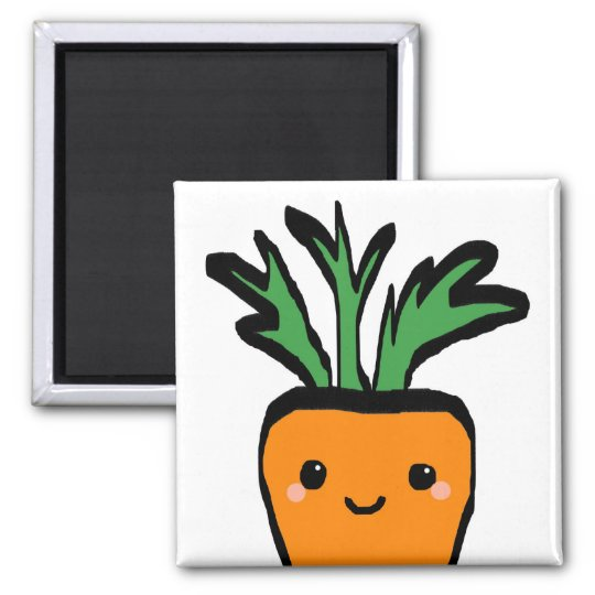 Happy carrot magnet