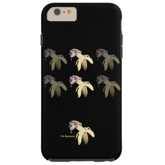 HAPPY&CUTE-BANANHund-Oh banan Tough iPhone 6 Plus Fodral