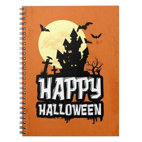 Happy halloween anteckningsbok