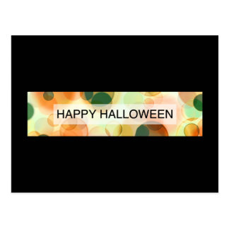 happy halloween (bokeh) vykort
