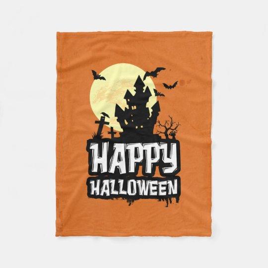 Happy halloween fleecefilt