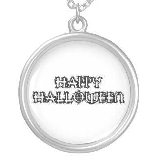 Happy halloween halsband med rund hängsmycke